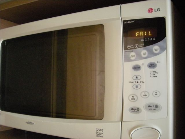 And Guess What Surprised Me On The Display Fail It Really Said I Swear Ve Never Seen A Microwave Do That