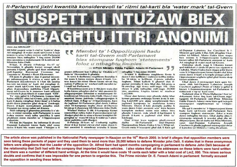 PN Newspaper In-Nazzjon 16 Mar 2000