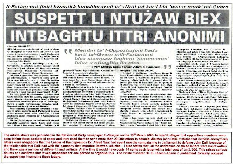 PN Newspaper In-Nazzjon 16 Mar 2000