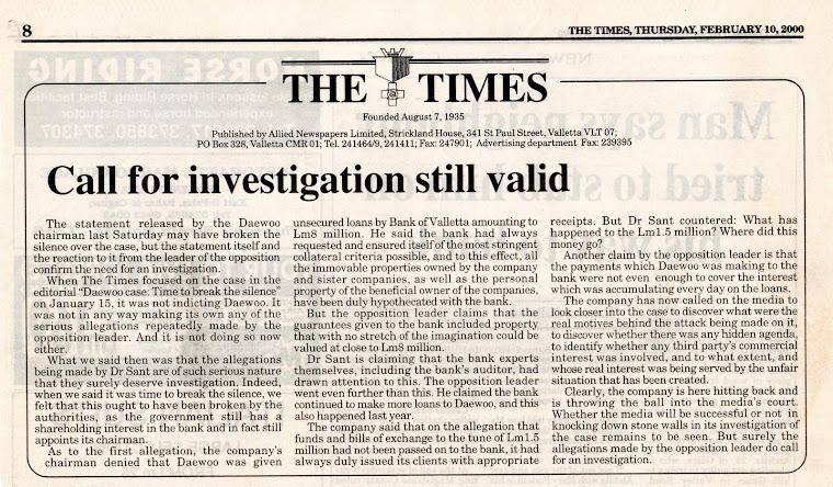 John Dalli's Involvement Covered Up