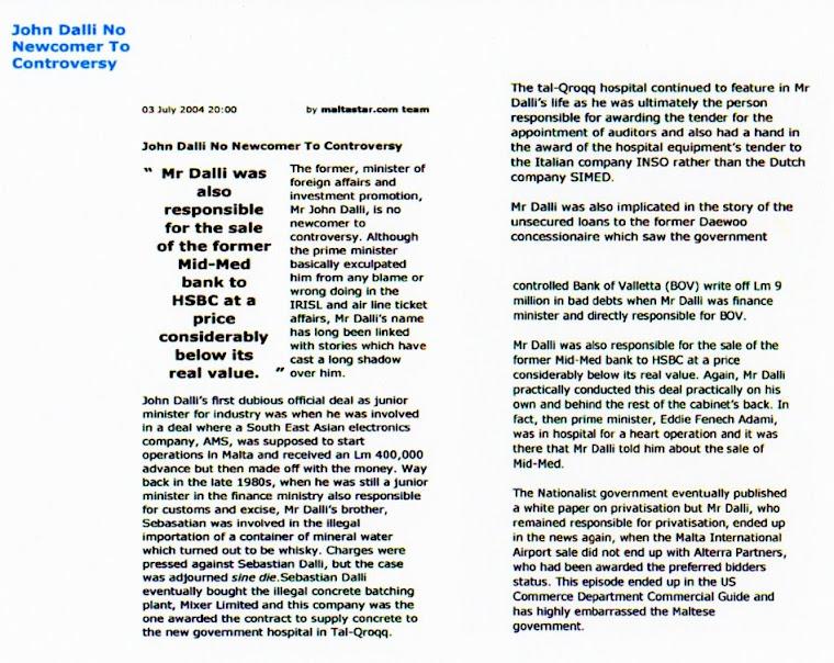 John Dalli EU Commissioner Scandals