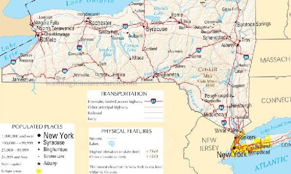 Online Maps New York State Map