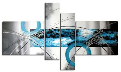 Tienda lamparas y cuadros online enero 2011 for Pintura azul turquesa