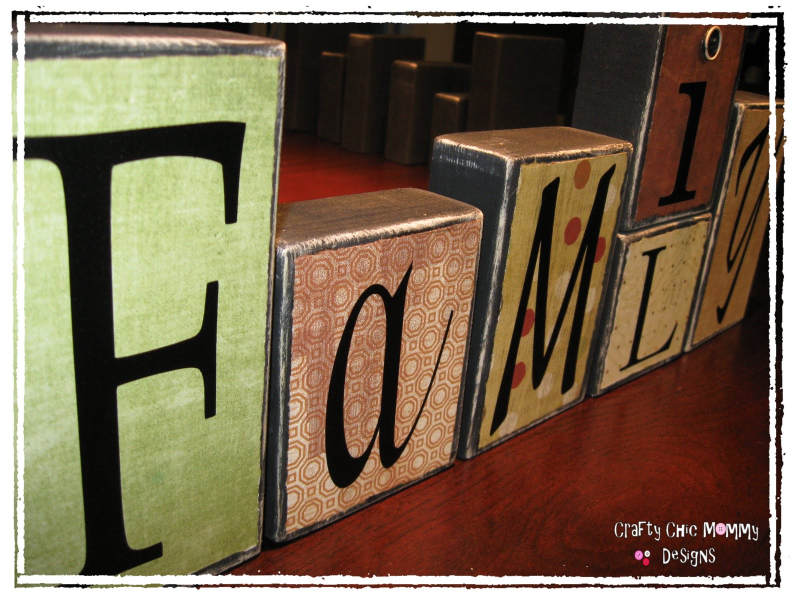 crafty chic mommy vinyl block letters With vinyl block letters