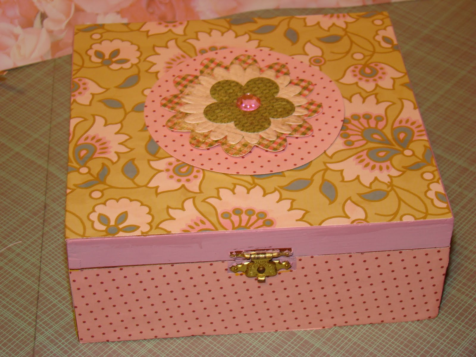 How to scrapbook a box - How To Decoupage A Cigar Box