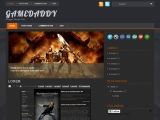 Game Daddy Blogger Template