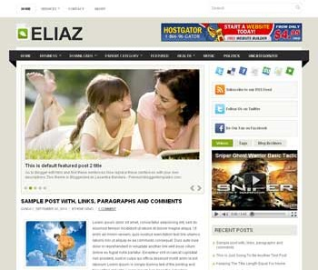 Eliaz Blogger Template