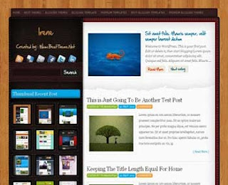 Irene Blogger Template
