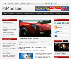Modeled Blogger Template