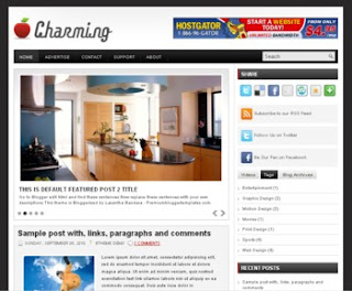 Charming Blogger Template