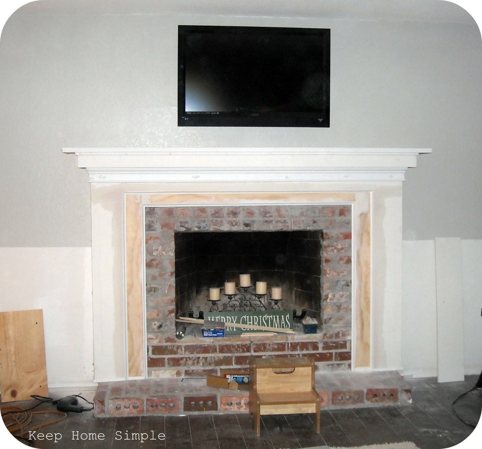 keep home simple fabulous fireplace makeover