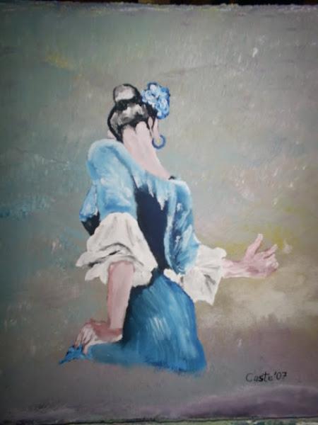 Bailaora de azul