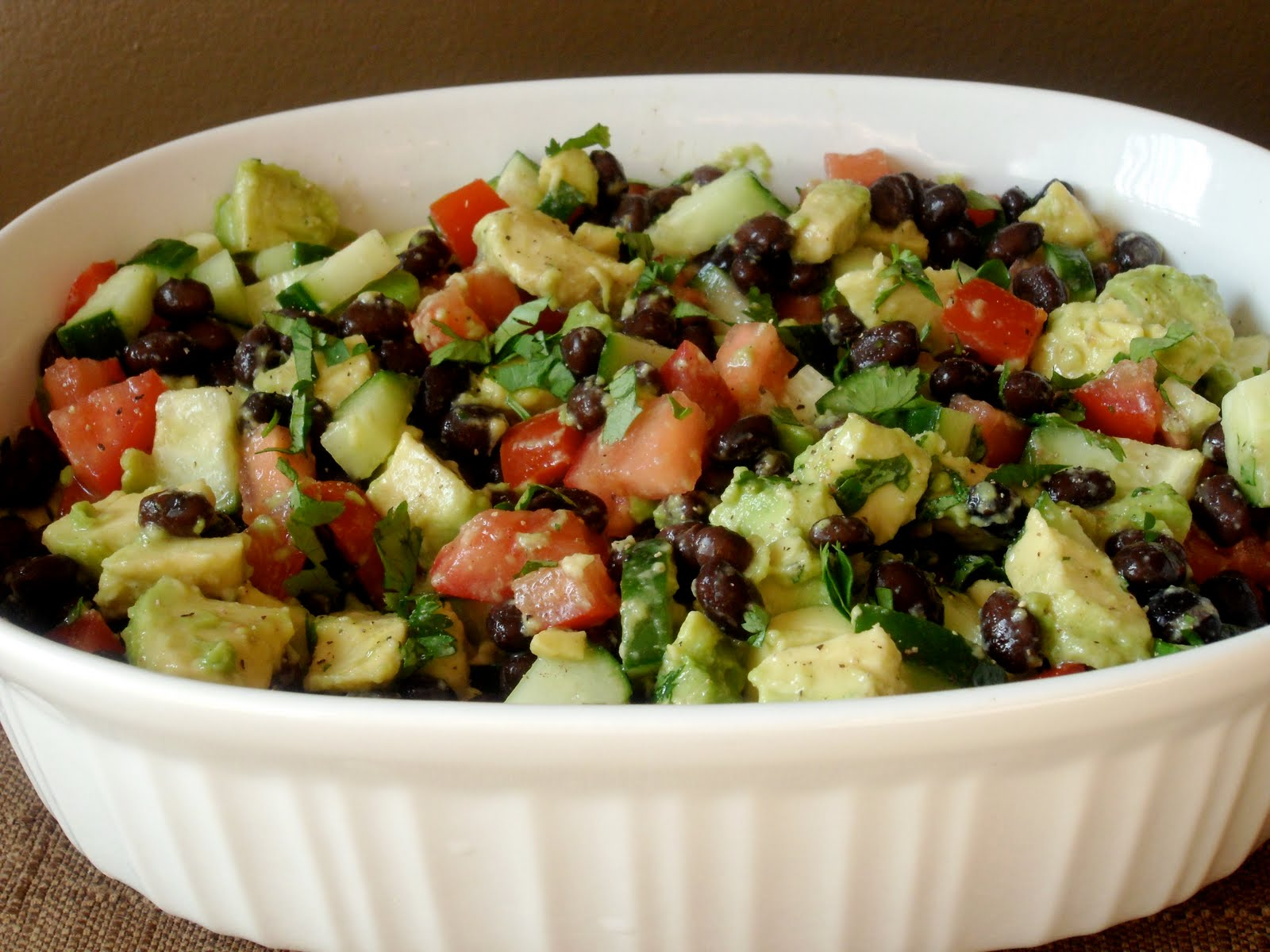 New Chapter...: Black Bean, Avocado, Cucumber and Tomato Salad