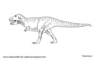 Kolorowanka Dinozaur Tyranozaur