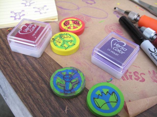 Stamp lovers only carving eraser stamps