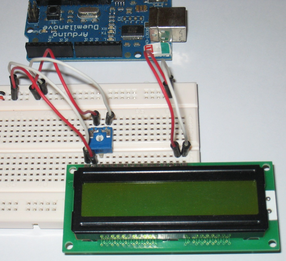 arduino lcd hook up Arduino: show me the temperature hooking up the lcd is a little less than easy when using a standard 16 pin, parallel lcd for an arduino project.