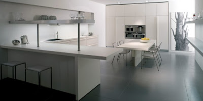 Such Minimalist Kitchen Designed Could Perfectly Merge In Living Area  Design Like On The Right Side Of The Picture Below.