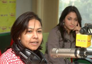 Tamanna at Radio Mirchi hot photos