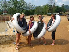 Tubing in Vang Vieng, Laos