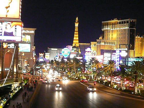 pictures of las vegas strip at night. The Las Vegas strip at night
