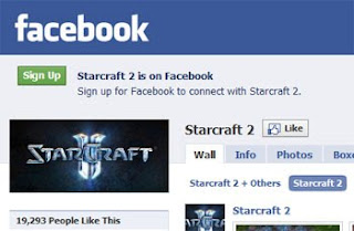 Starcraft 2 - Facebook Integration
