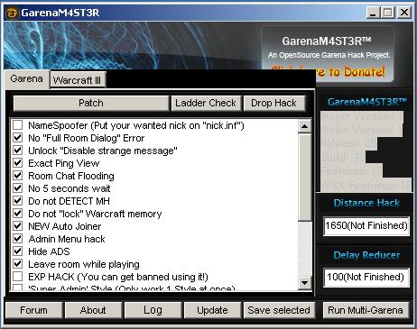 Название: GarenaM4ST3R v27d Категория: Читы для WarCraft III Полное описани