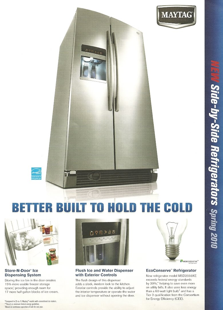 Appliance Information Maytag Side By Side Refrigerators