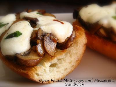 ... Mushroom, Mozzarella, and Prosciutto Sandwich...a great Tapas addition