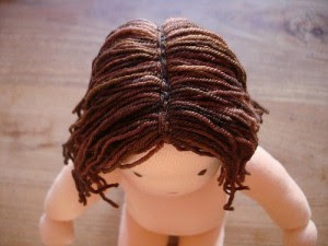 Dolly Donations: How to Sew Yarn Hair onto Your Doll