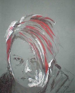 Steph's (my) portrait of Amy