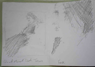 sketches of Derek Jones' prints