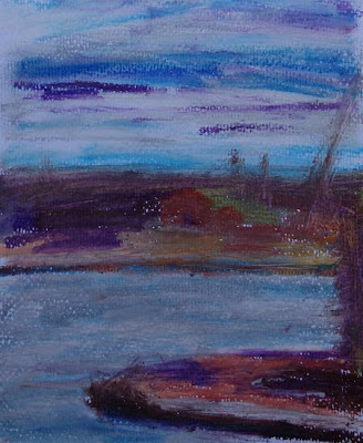 North Dock, oilpastel March 07