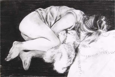 sleepy afternoon, charcoal April 07