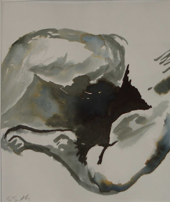 nude 7 in ink from Edward Weston photograph May 07