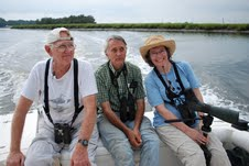 Contented Georgia Birders headed to the Altamaha Sound with Captain Brooks Good !