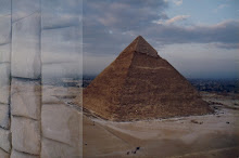 Photo Taken by me from Top of the Menkaure Pyramid towards Khafre Pyramid