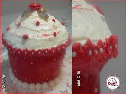 Essa's Red Velvet Giant Cupcake