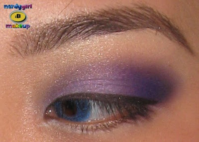 Prom Dress on Nerdy Girl Makeup  Prom Purple Makeup Look