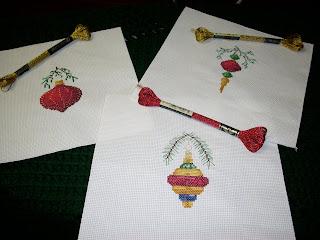 dmc floss ornaments