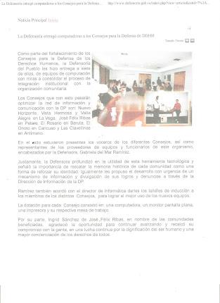 Consejo Para de Defensa de los Derechos Humanos Jose felix Ribas I