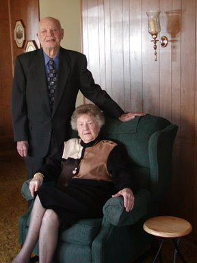 Raymond R Stone and Irene Gailey Stone Christmas Day 2001 in their home Mineral Wells Texas