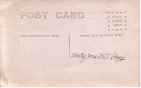 Back of postcard identifying Mr and Mrs DT Stone
