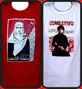 Camisetas Poder Popular e Lúcia Parsons