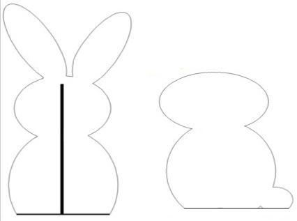 Moldes de conejos para pascua - Imagui