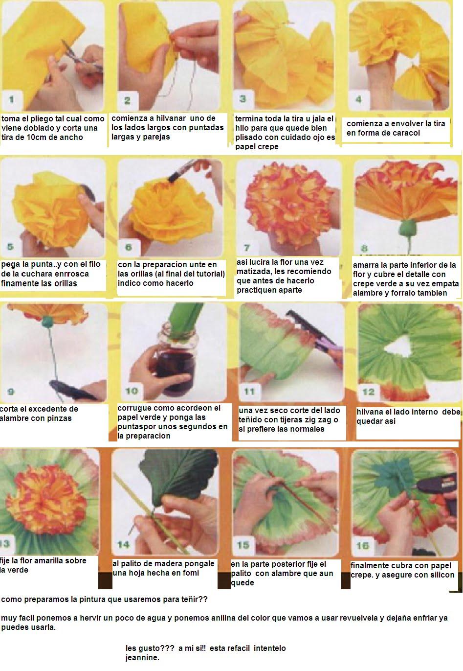Como Hacer Flores En Papel Crepe