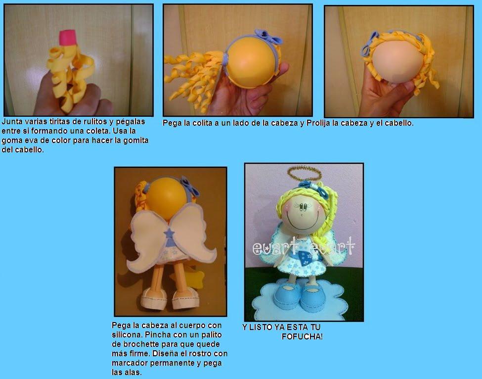 Куклы из фоамирана своими руками с пошаговым фото 24