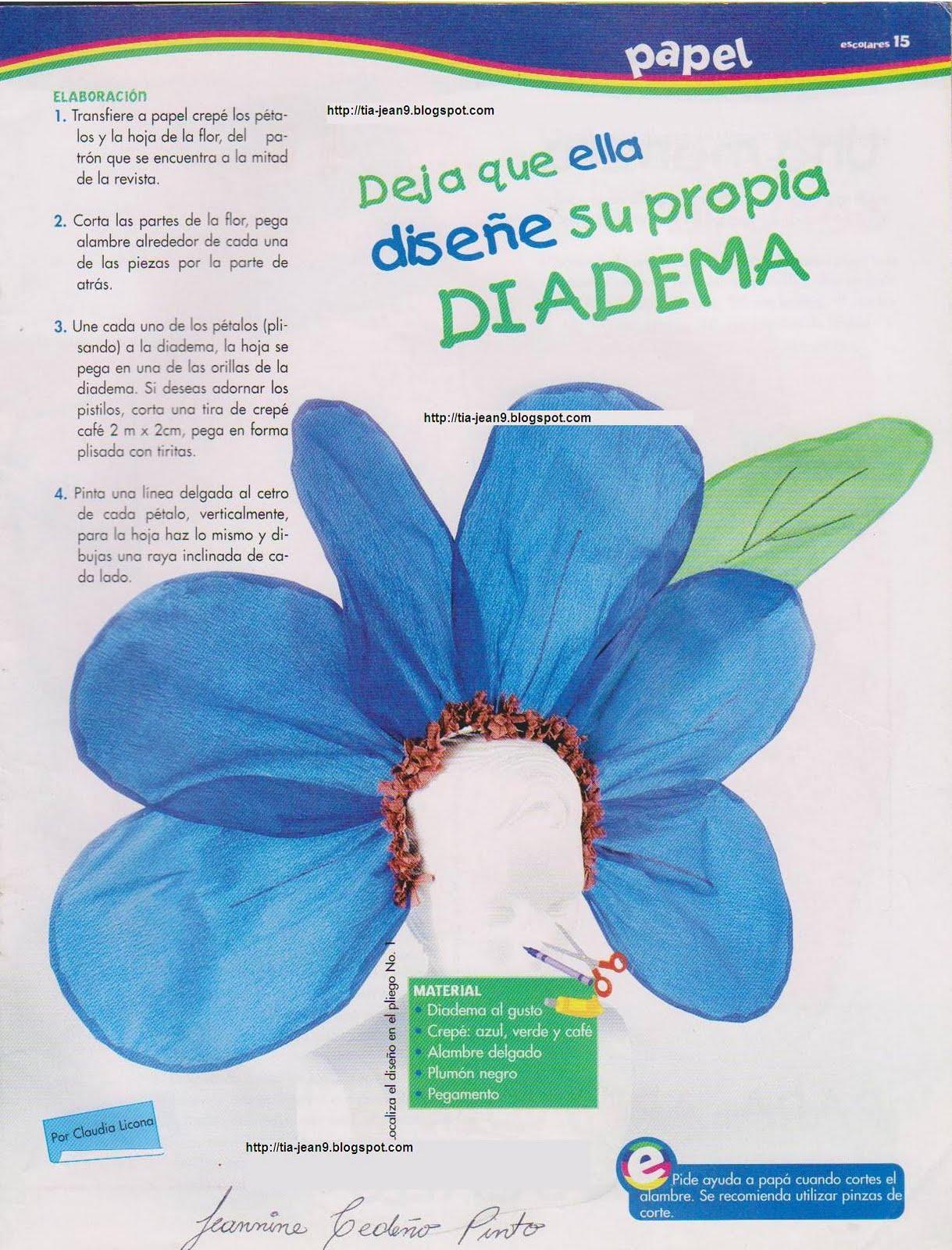 Magnífico Patrón De Flores De Punto Para Diadema Festooning - Manta ...