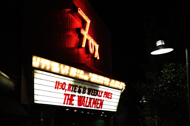 The Walkmen on the Fox Theater Marquee in Boulder, Colorado.