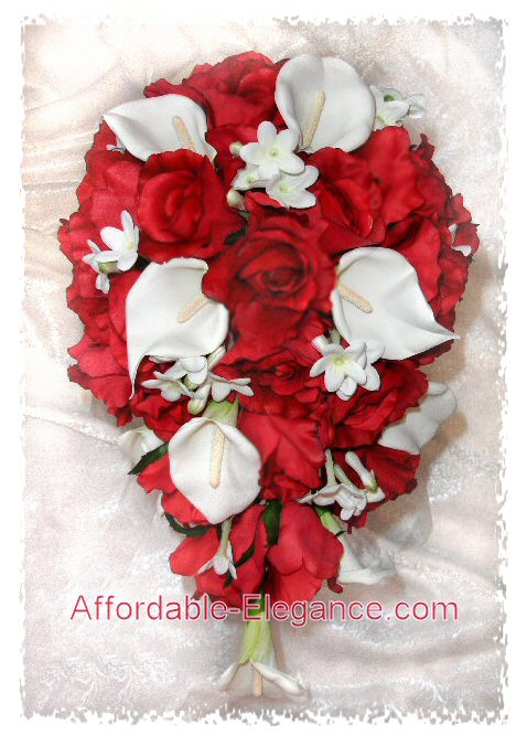 The flowers calla lilies and red roses This is what I want for my bouquet