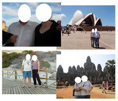 Replace the white circles with the photos of your face(s).